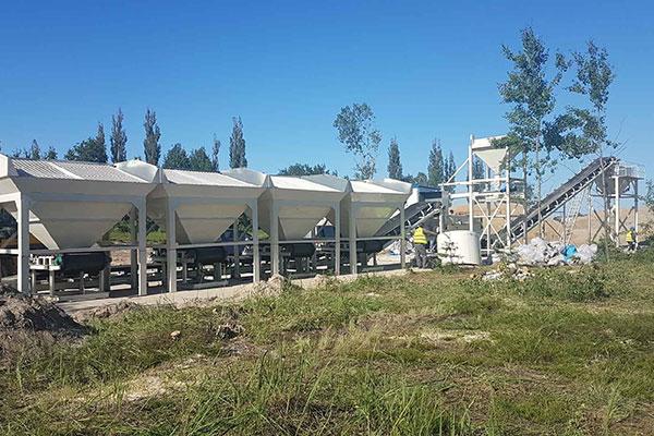 Camelway Planta de Grava/Suelo-Cemento WBZ600 En Polonia