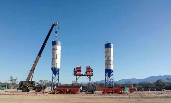 Dos mezcladora de hormigón JS750 terminá la instalación en Bolivia