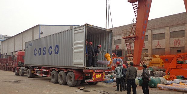 Envia la planta de concreto HZS120 a Argelia