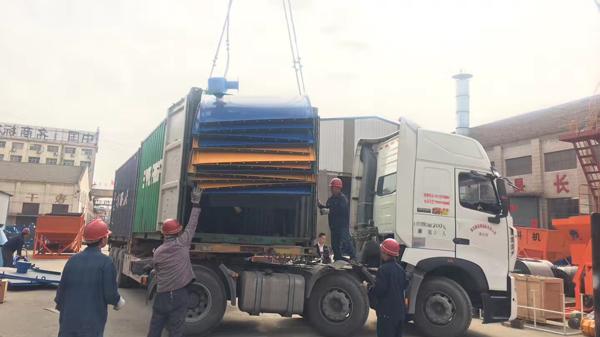 La planta mezcladora de hormigón HZS25 llegó a Perú2